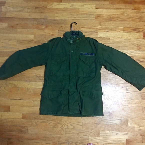 timeless design eb772 9f4db US Air Force Cold Weather Field Coat Size M Green